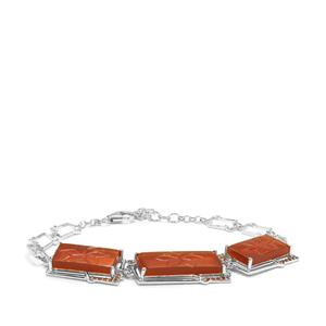 American Fire Opal Bracelet with Rio Golden Citrine in Sterling Silver 18.07cts