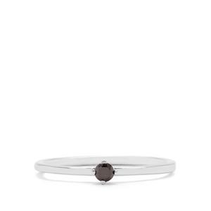 1/10ct Black Diamond Sterling Silver Ring