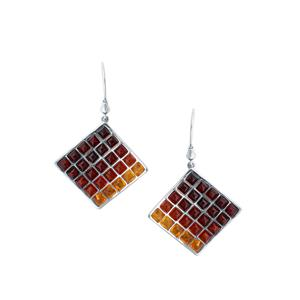 Baltic Cherry, Cognac & Champagne Amber Sterling Silver Earrings