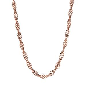 """18"""" Two Tone 9K Gold Classico Twisted Curb Chain 3.50g"""