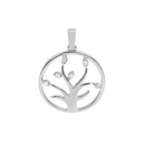1/20ct Diamond Sterling Silver Tree of Life Pendant