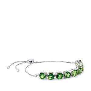 Fern Green Quartz Slider Bracelet in Sterling Silver 13.24cts