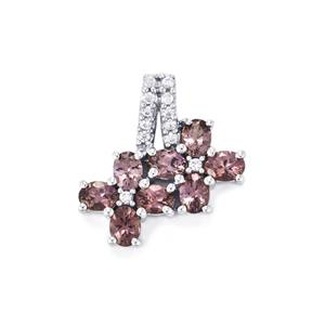 Mahenge Purple Spinel Pendant with White Zircon in 9K White Gold 1.77cts