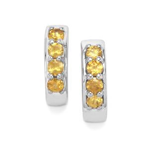 0.58ct Ambilobe Sphene Sterling Silver Earrings