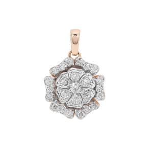 Argyle Diamond Pendant in 9K Rose Gold 0.51ct