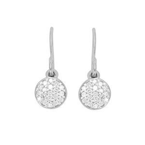 1/8ct Diamond Sterling Silver Earrings