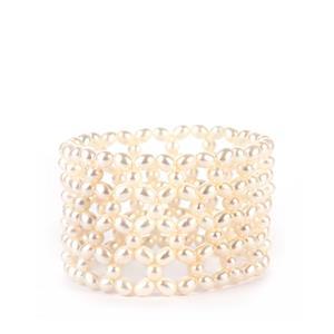 Kaori Cultured Pearl Elastic Bracelet (5x4mm)