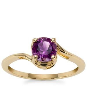 Moroccan Amethyst Ring in 9K Gold 0.73ct