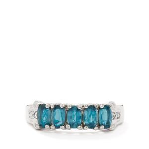 Orissa Kyanite & White Zircon Sterling Silver Ring ATGW 1.59cts