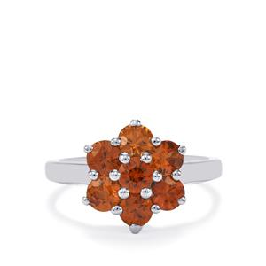 Cognac Zircon Ring in Sterling Silver 2.72cts