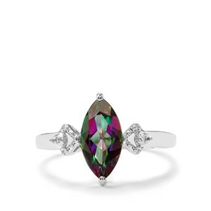 2.10ct Mystic & White Topaz Sterling Silver Ring
