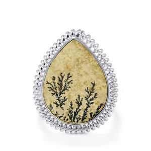 Manganese Dendrite Ring in Sterling Silver 11cts