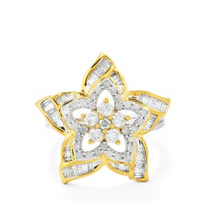 1ct Diamond Two Tone Midas Ring