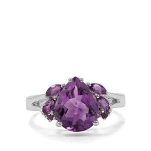 Amethyst Ring in Sterling Silver 3.3cts