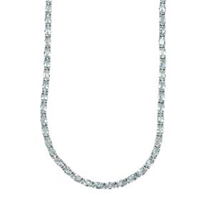 Sokoto Aquamarine Necklace in Sterling Silver 24.95cts