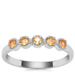Songea Yellow Sapphire Ring in Sterling Silver 0.41ct