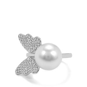 South Sea Cultured Pearl Sterling Silver Ring (11.50mm)