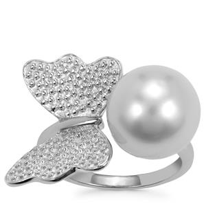 South Sea Cultured Pearl Ring in Sterling Silver (11.50mm)