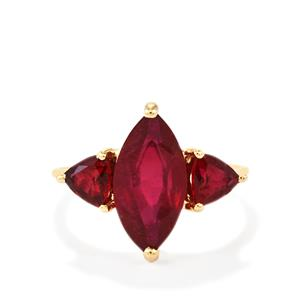 Malagasy Ruby Ring  in 10K Gold 6.35cts (F)