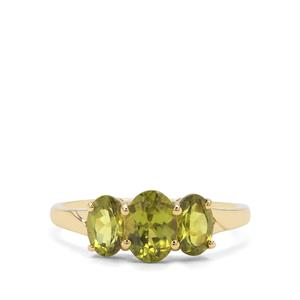 1.94ct Vesuvianite 9K Gold Ring