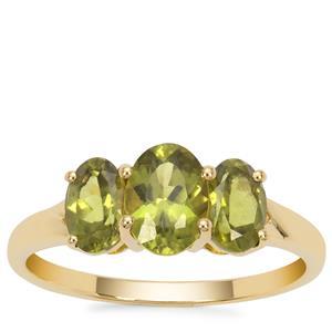 Vesuvianite Ring in 9K Gold 1.94cts