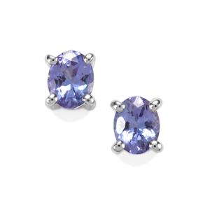 0.70ct AA Tanzanite Sterling Silver Earrings