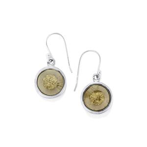 24ct Drusy Pyrite Sterling Silver Aryonna Earrings