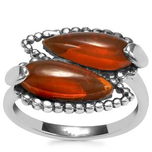 American Fire Opal Ring in Sterling Silver 2.70cts