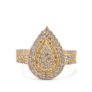 Champagne Argyle Diamond Ring in 9K Gold 1.05cts