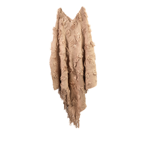 Destello Textured Poncho - Brown
