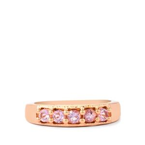 Rose du Maroc Amethyst Ring in Rose Gold Plated Sterling Silver 0.54ct