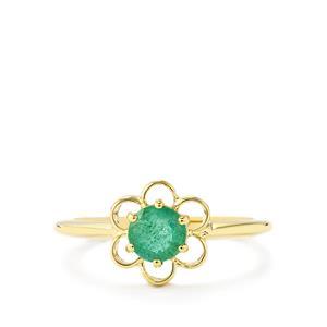 0.63ct Zambian Emerald 9K Gold Ring