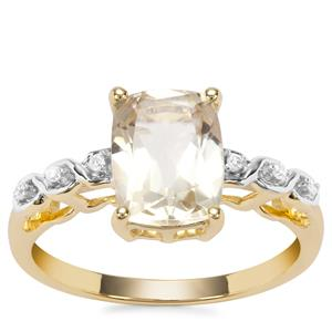 Serenite Ring with Diamond in 9K Gold 2.09cts