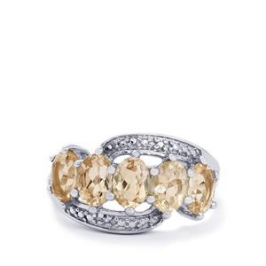 Zambezia Morganite & Diamond Sterling Silver Ring ATGW 2.07cts