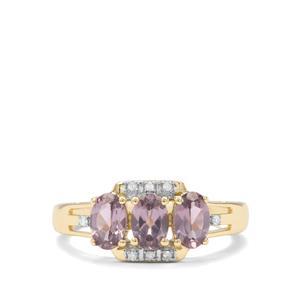 Mahenge Purple Spinel & Diamond 9K Gold Ring ATGW 1.35cts