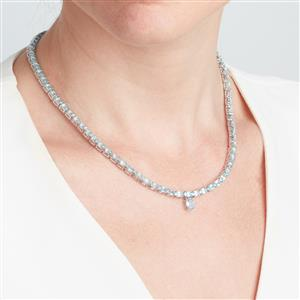 Madagascan Blue Apatite Necklace in Sterling Silver 19.89cts