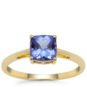 AA Tanzanite Ring in 9K Gold 1.20cts