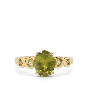 2.19ct Vesuvianite 9K Gold Ring