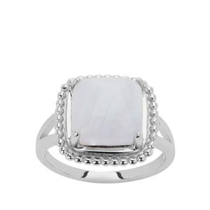 Blue Lace Agate Ring in Sterling Silver 4.51cts