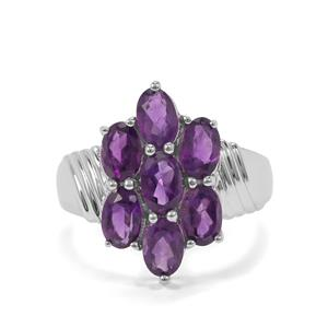 Zambian Amethyst Ring in Sterling Silver 2.86cts