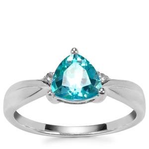 Batalha Topaz Ring with Diamond in Sterling Silver 1.47cts