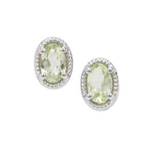 Merelani Mint Garnet Earrings in Sterling Silver 0.48ct