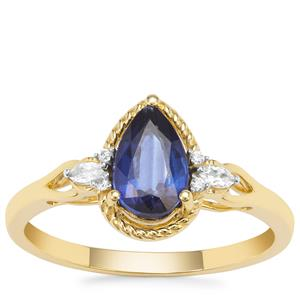 Nilamani Ring with White Zircon in 9K Gold 1.24cts