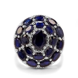 7.29ct Madagascan Blue Sapphire Sterling Silver Ring