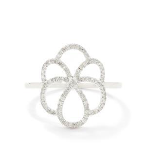 1/8ct Diamond 9K White Gold Ring
