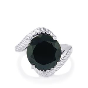 8.84ct Black Spinel Sterling Silver Ring