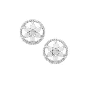 Diamond Earrings in Sterling Silver 0.21ct