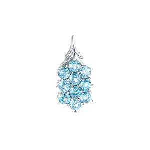 4.62ct Ratanakiri Blue Zircon Sterling Silver Pendant