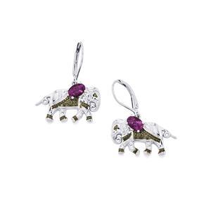 Amethyst Earrings in Sterling Silver 0.88cts