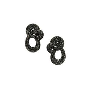 3.79ct Black Spinel Sterling Silver Earrings